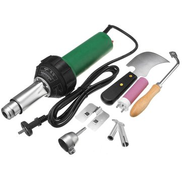 220V 1600W Heat Gun Plastic PVC Floor Welding Torch Hot Air Blower With Accessories