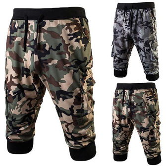 Summer Men's Camouflage Casual Shorts Fitness Training Jogging Running Shorts