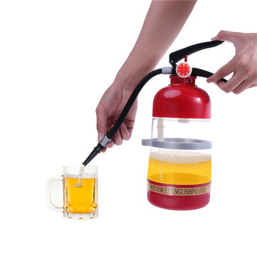 1500ml Fire-Extinguisher Beverage Drink Dispenser Cocktail Shaker Liquor Pump Wine Beer Dispenser Machine Wine Decanter