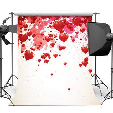 8X8FT Vinyl Love Heart Photography Background Studio Backdrop Wedding Photo Prop