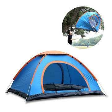 Outdoor Double 2 Persons Camping Tent Automatic Single Layer Beach Sunshade Canopy