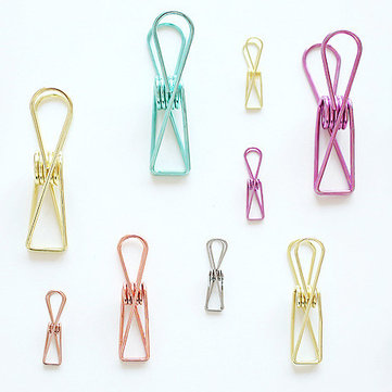 8/12/18Pcs Hollow Out Notes Metal Letter Multicolor Paper Binder Clips Folder Paper Clip DIY Marker for Binding Supplies Organizer