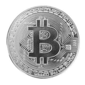 Silver Plated Bitcoin Coin BTC Coin Art Collection EDC Gadget