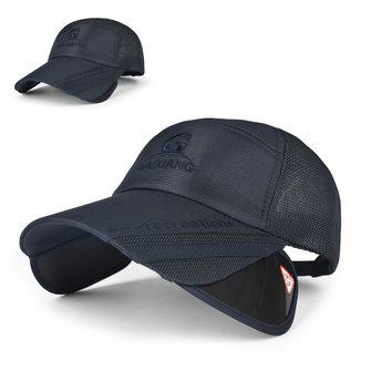 Homens unissex mulheres malha de poliéster aba larga boné de beisebol chapéu ao ar livre respirável ajustável