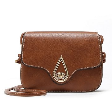 Vrouwen PU Leather Retro Elegant Hasp Schoudertas Crossbody Bag