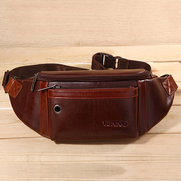 Men Multifunctional Classic Minimalist Fashion Earphone Pocket Waist Bag Crossbody Bag