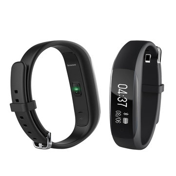Lenovo HW01 Dynamic Heart Rate Sleep Monitor Fitness Tracker Social Share Music Control Smart Watch Band