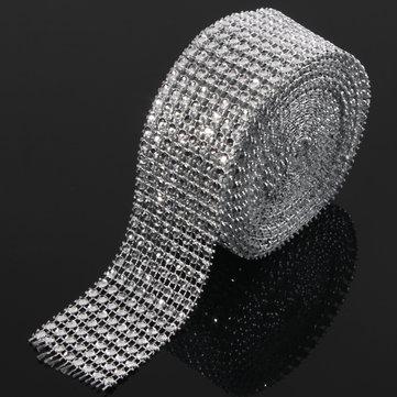 Wedding Diamond Mesh Roll Sparkle Rhinestone Crystals Ribbon Decor
