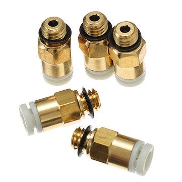 Creality 3D® 5PCS Imprimante 3D M6 Buse de Filetage Brass Pneumatic Connecteur Joint Rapide pour Extrudeuse à Distance