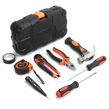 9Pcs Multifuntional Woodworking Household Tools Kit Set SteelKits Hardware Toolbox