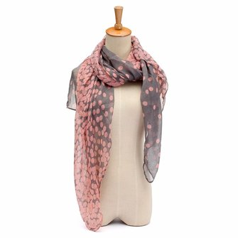 Women Fashion Soft Long Neck Large Scarf Wrap Shawl Voile Stole Dot Scarves