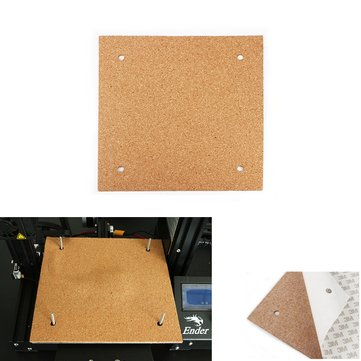 235*235*3mm Heated Bed Hotbed Thermal Heating Pad Insulation Cotton With Cork Glue For Ender-3 3D Printer Reprap Ultimaker Makerbot
