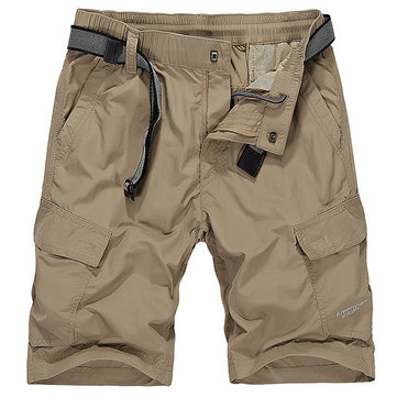 Summer Men's Cargo Shorts Quick Drying Water Repellent Loose Casual Military Shorts