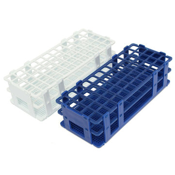 3 Layers 60 Holes Plastic Test Tube Rack Holder White/Blue