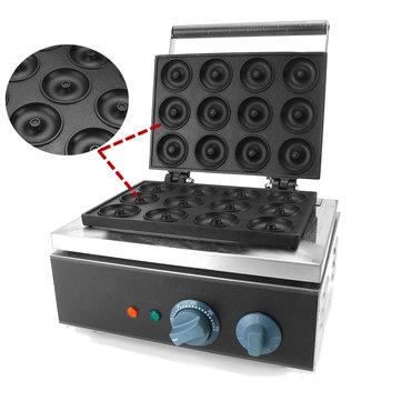 12 Grids Stainless Steel Electric Round Donut Maker Kitchen Machine Bread Machine