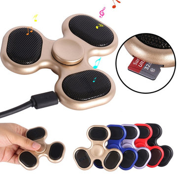 Flashing Music LED ABS Tri Spinner Colorful Rotating TF Card Fidget Hand Spinner Reduce Stress Toy
