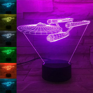 Creative Starships Bulbing USB 3D LED Lights Colorful Touch Night Light Christmas Gift