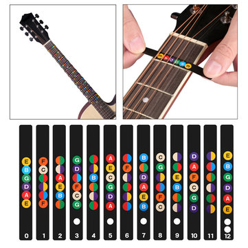 Guitar Fretboard Note Decal Finger Board Musical Scale Map Sticker for Practice