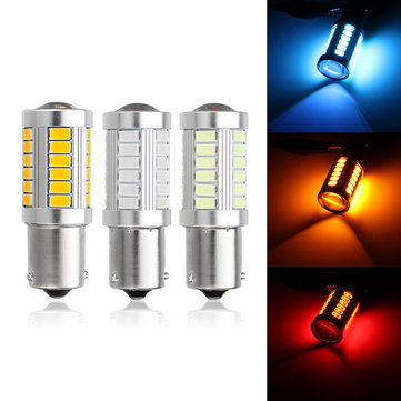1pc 1156 BAU15S 33 LED Car Turn Signal Lights Daytime Running DRL Bulb Lamp DC12V 660LM