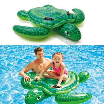 Children Swim Ring Inflatable Turtle Cartoon Float Seat Boat Baby Water Toy