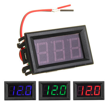 0.56 Inch Mini Digital Voltmeter DC 4.5V To 30V Digital Voltmeter Voltage Panel Meter For 6V 12V 24V Electromobile Motorcycle Car