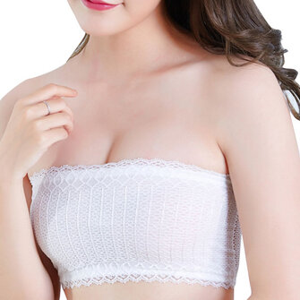Sexy Lace No Padded Strapless Anti Emptied Primer Underwear Cami Bra