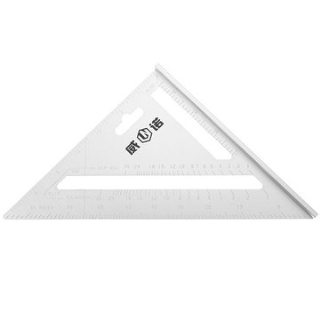 MYTEC 200mm Aluminum Ruler Speed Square Protractor Miter Framing Measuring Tool