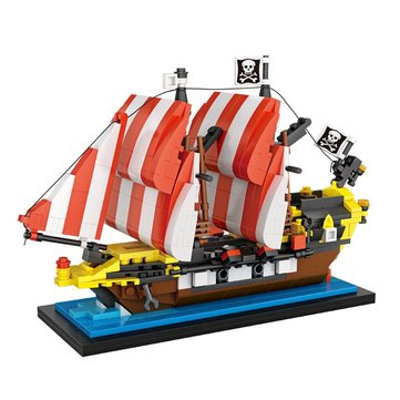 lOZ Pirates Boat Model Blocks Bricks 653PCS 17.3x11.3cm Construction Adults Kids Colletction Toy