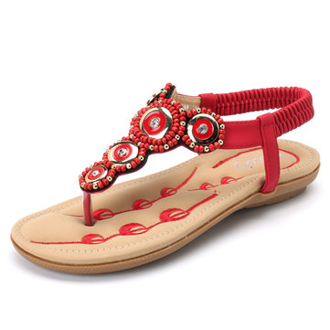 SOCOFY Roman Casual Clip Toe Beach Sandals