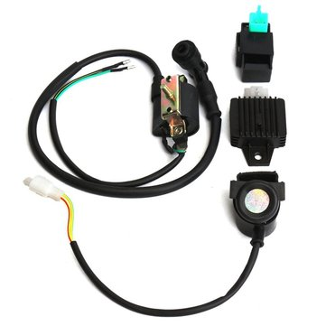 CDI Ignition Coil Relay Regulator Rectifier Kit for 50CC 70CC 90CC 110CC ATV QUAD