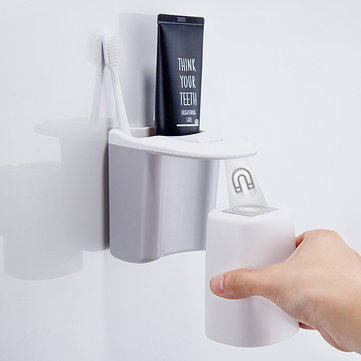 Automatic Magnetic Toothbrush Holder Cups Wall Mount Stand