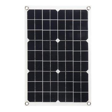 20W 430*280*2.5mm Monocrystalline Solar Panel with 18V DC Plug & 5V USB Output High Efficiency & Light Weight