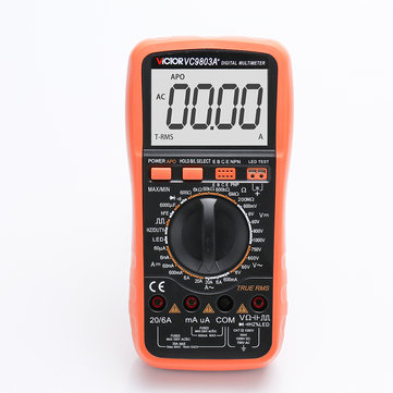 VC9803 High-Precision Digital Multimeter Backlight Display LCD Screen AC/DC Voltage Current Resistance Capacitance Diode Triode Tester