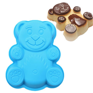 Honana DlY Cartoon Bear Shape 3D Silicone Cake Mold Baking Tools Bakeware Maker Mold Tray Baking