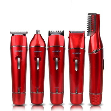 110-240V 5-in-1 USB Waterproof Electric Shaver Hair Clipper Nose Ear Beard Body Trimmer