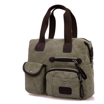 Ekphero Men Women Vintage Canvas Bag Shoulder Messenger Handbag