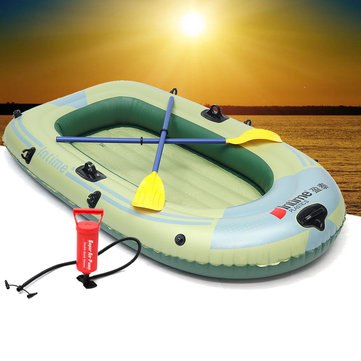 Outdoor Sports 2/3/4 Person PVC Inflatable Boat Fishing Raft Dinghy Canoe Kayak