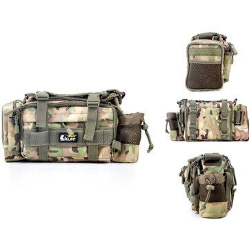 24*9*18CM I lure Multifunction Canvas Waterproof Waist Fishing Bag Fishing Reel Lure Tackle Bag
