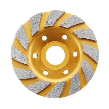 Drillpro 100x22.23mm Diamond Saw Blade Gold Grinding Wheel for Cutting Concrete Granite