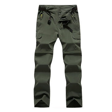 Outdoor Sports Light Breathable Elastic Force Pants Quicking Dry Detachable Climbing Fishing Trouser