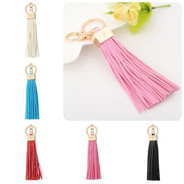 Multicolors Tassel Pendant Bag Handbag Purse Key Chain Ring Fine Jewelry