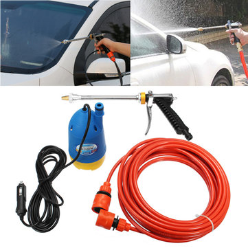60W 12V Portable High Pressure Car Electric Washer Clean Gun Submersible Pump