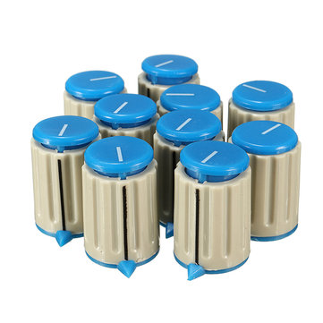 10Pcs 6mm Potentiometer Knob Volume Control Rotary Switch Plastic Cover Cap