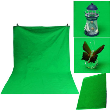 106x147cm Green Cotton Muslin Chromakey Photography Backdrop Background