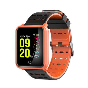 N88 1.3 polegada Grande Tela IP68 À Prova D 'Água Pulseira Inteligente Pressão Arterial Coração Taxa de Relógio Inteligente