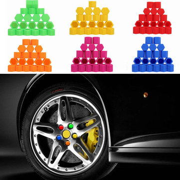 Car Auto 21mm Silicone Wheel Covers Hub Tyres Screw Dust Caps 20 Pcs
