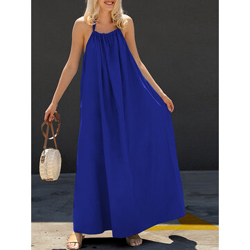 Women Halter Backless Party Evening Cocktail Long Maxi Dress