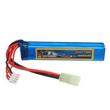Giant Power 11.1V 1000mAh 3S 15C LiPo Battery AIRSOFT Pack Mini-Tamiya Plug