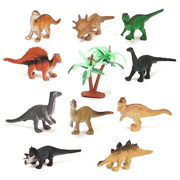 12шт комплект смешанные динозавр 65x15x40mm сортировали фигурки доисторических игрушки подарок Playset партия