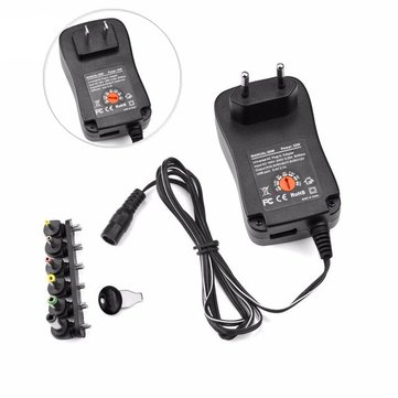 AC110-240V to DC3-12V Voltage Adjustable 30W Power Supply Adapter Lighting Transformers